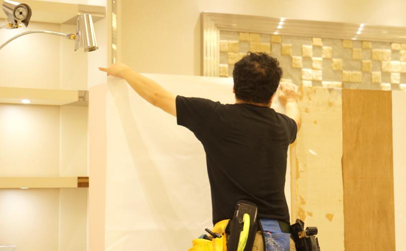 経師紙を使用した木工パネルのイメージ